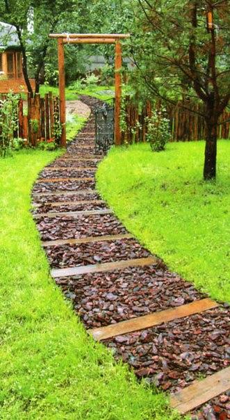 Дорожка с саду своими руками недорого