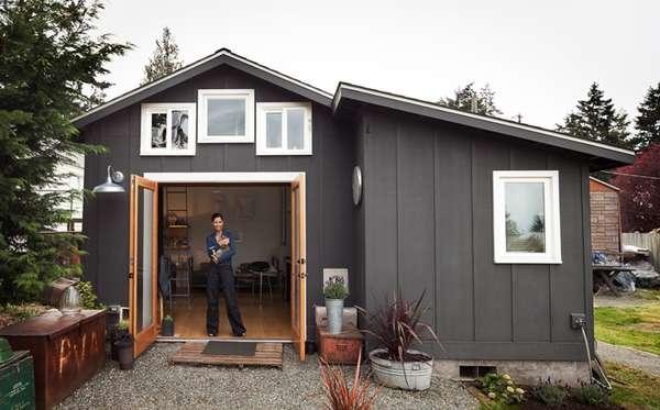 Дачный домик бытовка - Проект маленького одноэтажного дома