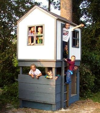for How to build a 2 story playhouse
