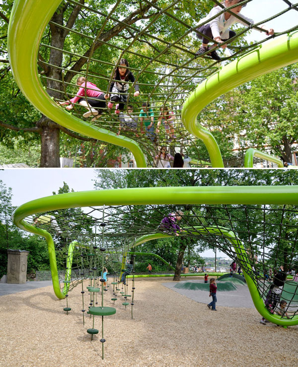 Как обустроить детскую площадку. Оформление детских площадок фото