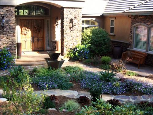 Дизайн входа в дом - 12 идеи для оформления сада (2)