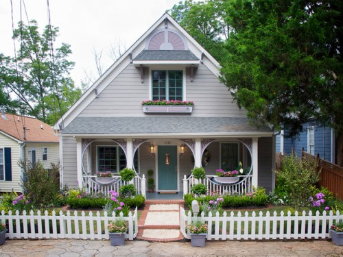 Дизайн входа в дом - 12 идеи для оформления сада (11)