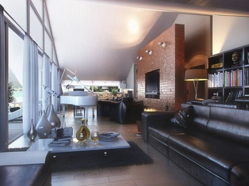 дизайн интерьера загородного дома   (12)
