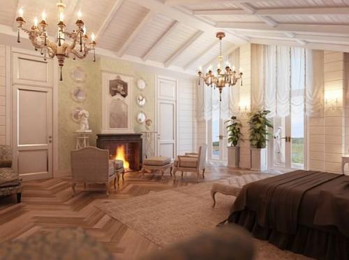дизайн интерьера загородного дома   (6)