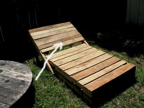 Деревянная садовая мебель - лежак своими руками (2)