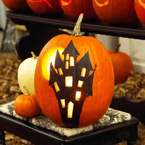 Украшение на Хэллоуин - что сделать из тыквы (15)