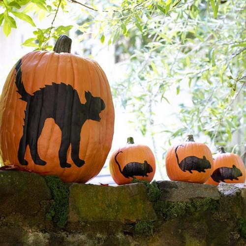 Украшение на Хэллоуин - что сделать из тыквы (9)