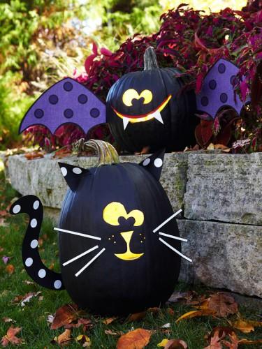 Украшение на Хэллоуин - что сделать из тыквы (3)