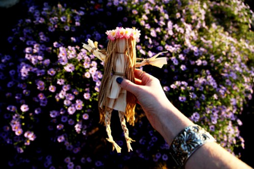 Сделать куклу своими руками - кукла из соломы  (1)