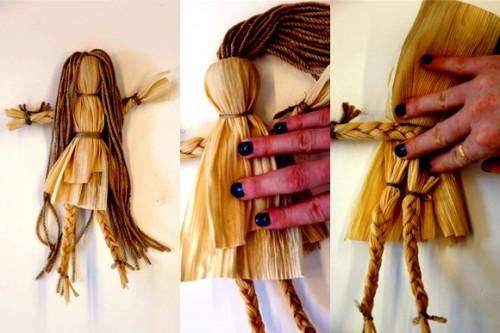 Сделать куклу своими руками - кукла из соломы  (8)
