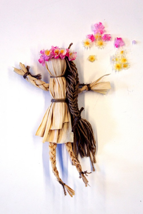 Сделать куклу своими руками - кукла из соломы  (13)