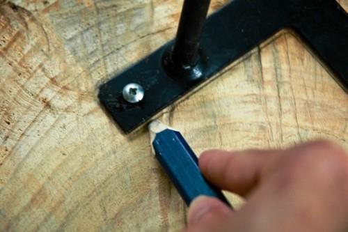 Как сделать журнальный стол - дачный стол своими руками (7)