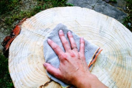 Как сделать журнальный стол - дачный стол своими руками (12)