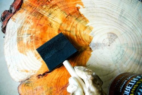 Как сделать журнальный стол - дачный стол своими руками (13)