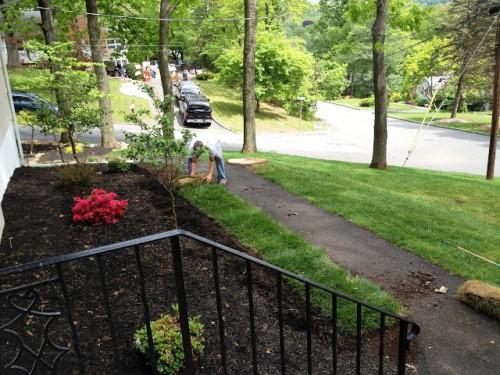 Красивый вход в дом - красивый сад своими руками (11)