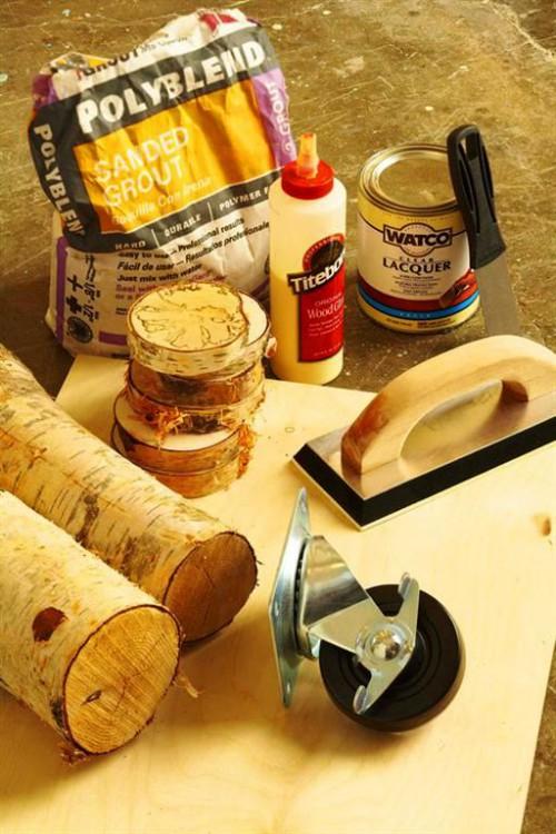 Поделки из поленьев - как сделать стол для дачи (3)