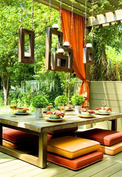 Поделки из поленьев - как сделать стол для дачи (12)
