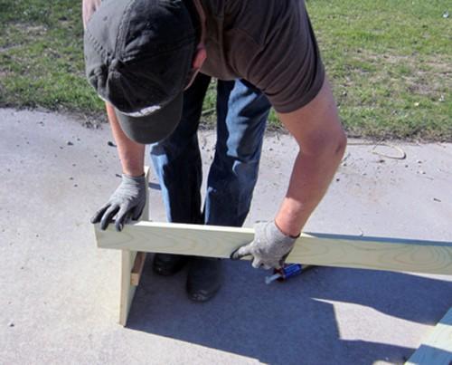 Скамейка своими руками - скамейка для дачи (8)