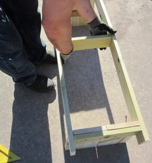 Скамейка своими руками - скамейка для дачи (11)