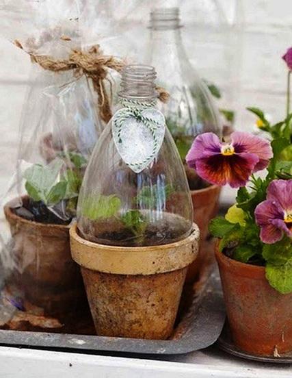 Как сделать оранжерею - поделки для дачи из пластиковых бутылок (1)