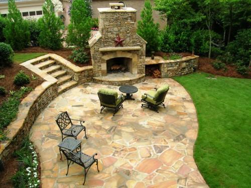 Дизайн дворика - сделать патио (4)