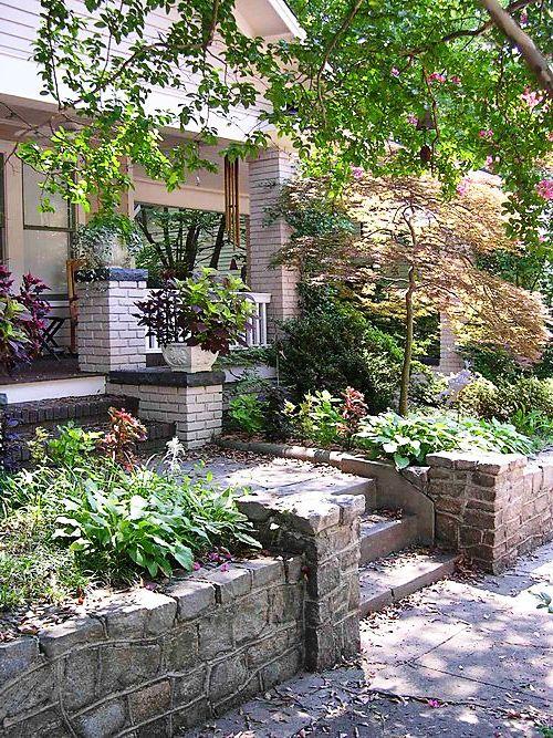 Палисадник своими руками - фото как украсить сад  (1)