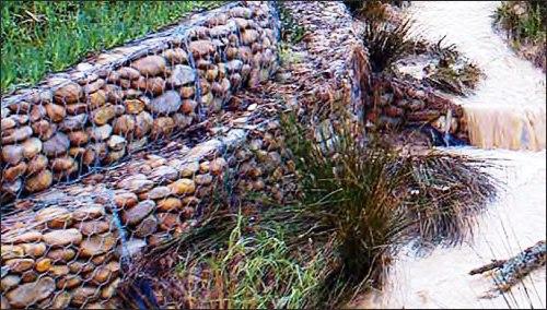 Как укрепить грунт- укрепление габионами (1)