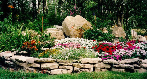 Клумбы из камней (4)