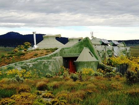 Дома из самана - эльфийские и хоббичьи постройки - фото (38)