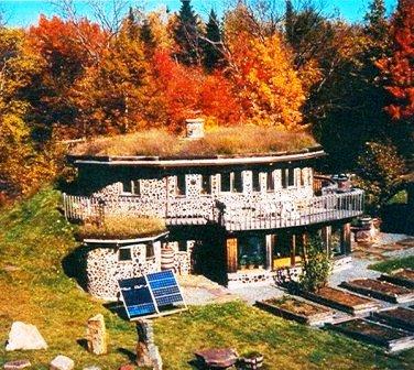 Дома из самана - эльфийские и хоббичьи постройки - фото (7)