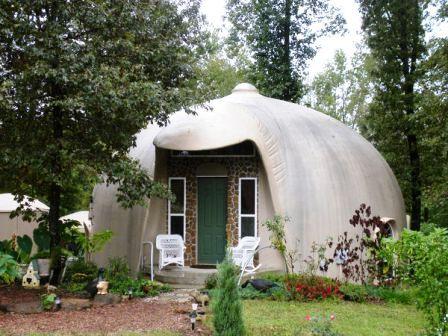 Дома из самана - эльфийские и хоббичьи постройки - фото (8)
