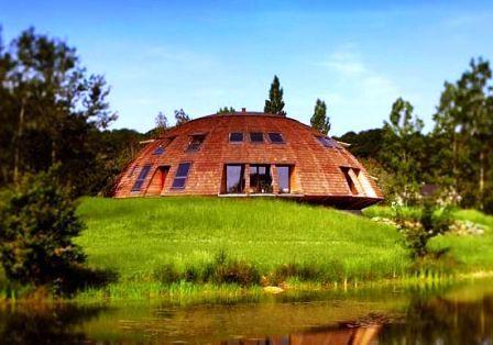 Дома из самана - эльфийские и хоббичьи постройки - фото (14)