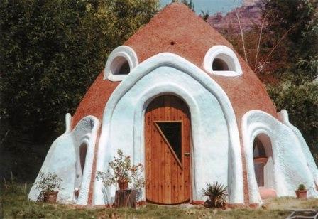 Дома из самана - эльфийские и хоббичьи постройки - фото (19)