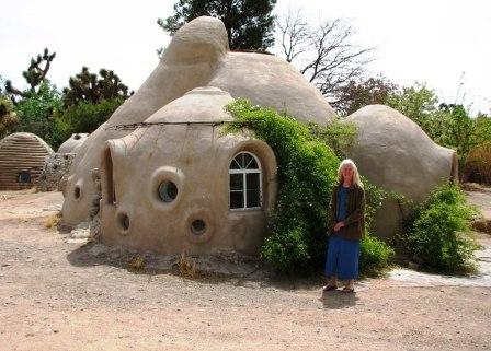 Дома из самана - эльфийские и хоббичьи постройки - фото (20)