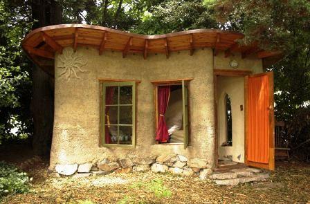 Дома из самана - эльфийские и хоббичьи постройки - фото (25)