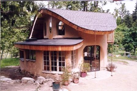 Дома из самана - эльфийские и хоббичьи постройки - фото (26)