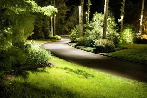Как сделать освещение - в саду - фото (18)