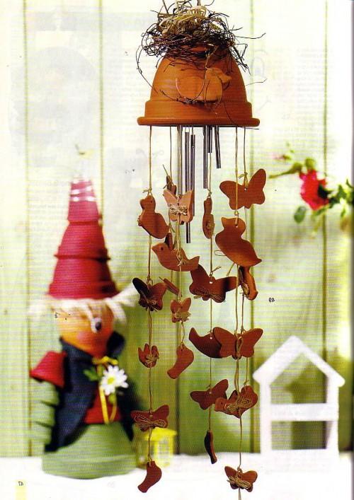 Поделки из цветочных горшков - как использовать ненужные вещи (7)