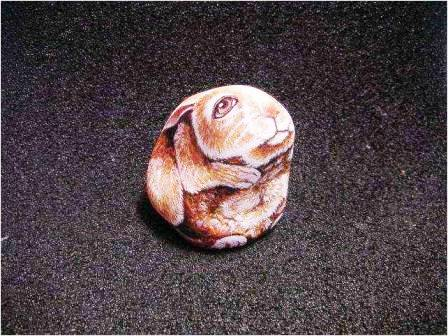 Как украсить участок своими руками - рисунки на камнях - фото (9)
