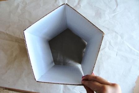Светильник из картона мастер класс