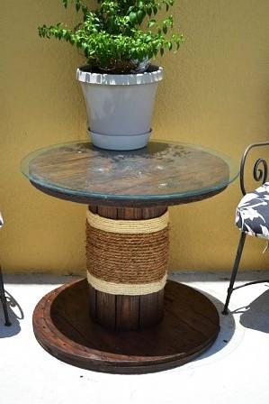 Мебель из кабельных барабанов (9)