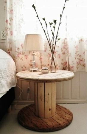 Мебель из кабельных барабанов (10)