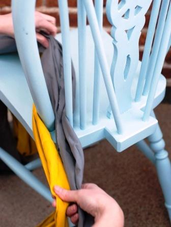 Как связать коврик на стул (21)