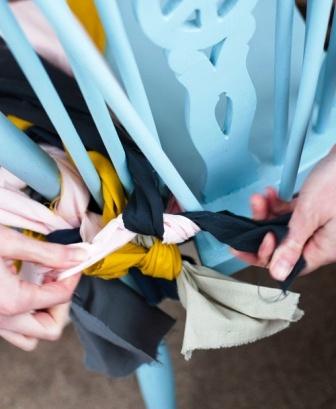 Как связать коврик на стул (20)