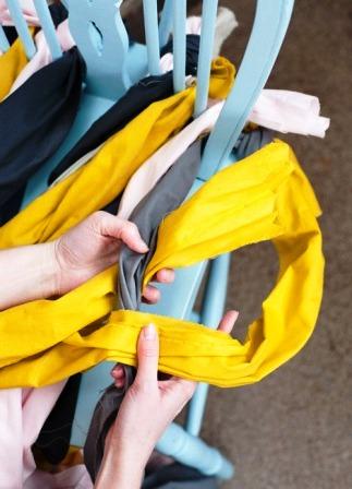 Как связать коврик на стул (16)