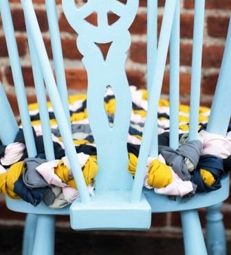 Как связать коврик на стул (2)