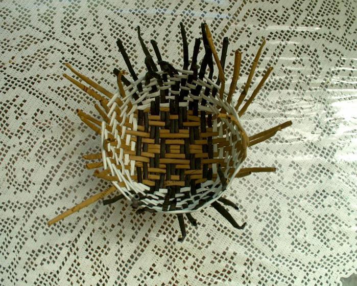 Плетение корзинки из бумаги