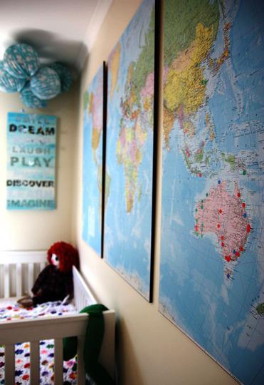 Карта в интерьере - мечта путешественника
