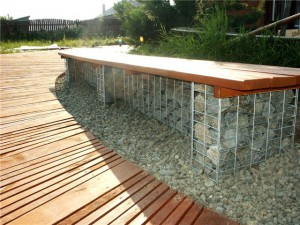 Камни в сетках - габионы (4)
