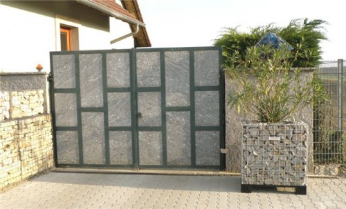 Камни в сетках - габионы (6)